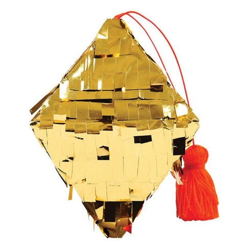 Tree Decorations - Mini Pinata Gold Diamond - MeMe Antenna