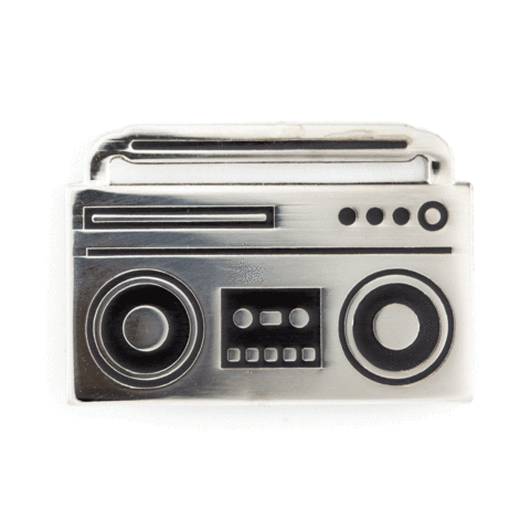 Enamel Pin : These Are Things - Boom Box - MeMe Antenna