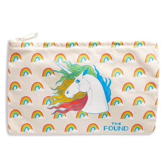 Zipped Pouch : The Found - Unicorns and Rainbows - MeMe Antenna