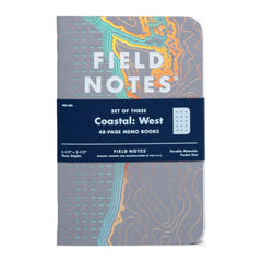 FIELD NOTES - COASTAL West - Foil-Stamped Coastlines - MeMe Antenna