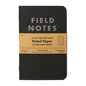 FIELD NOTES - Pitch Black Memo Book Ruled - MeMe Antenna