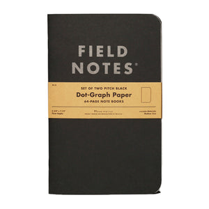 FIELD NOTES - Pitch Black Note Book Dot-Graph - MeMe Antenna