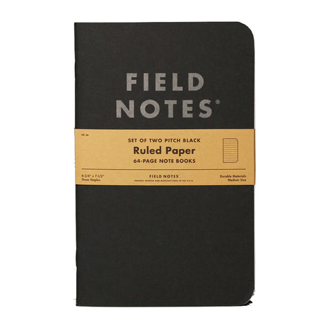 FIELD NOTES - Pitch Black Note Book Ruled - MeMe Antenna