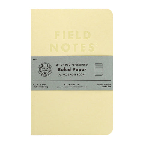 FIELD NOTES - SIGNATURE Ruled - MeMe Antenna