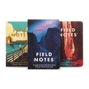 FIELD NOTES - National Parks 3-Pack A - Yosemite, Acadia, Zion - MeMe Antenna