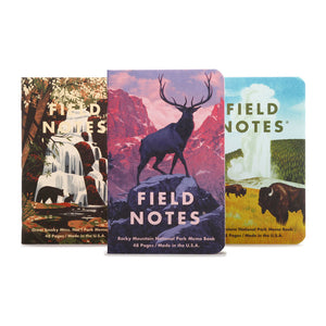 FIELD NOTES - National Parks 3-Pack C - Rocky Mtn, Great Smoky Mtns, Yellowstone - MeMe Antenna