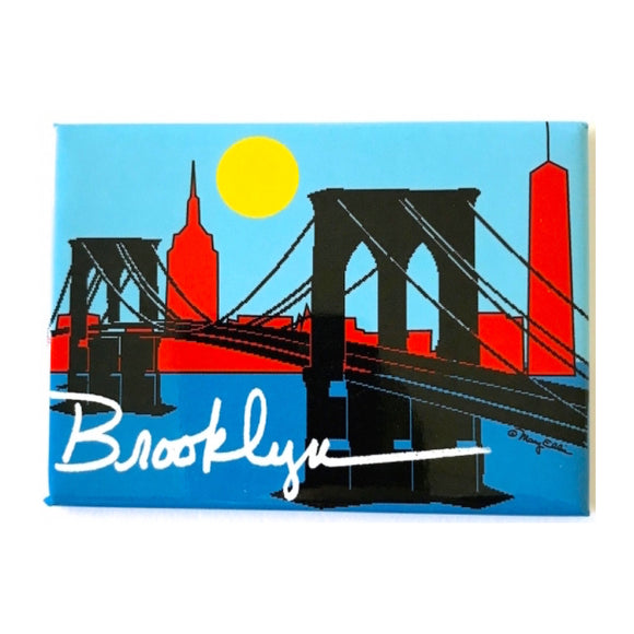 Magnet - Brooklyn Bridge Skyline - MeMe Antenna