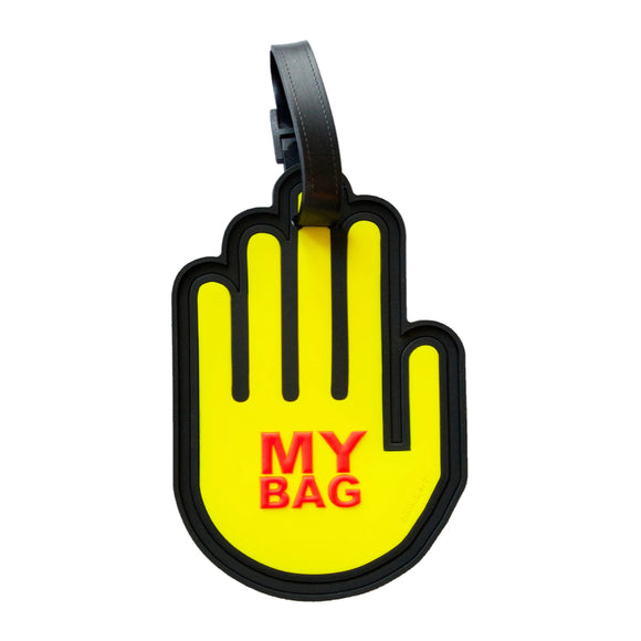 Luggage Tag - Yellow Hand My Bag - MeMe Antenna