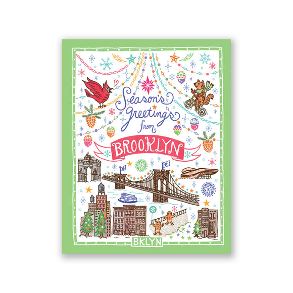 "GMBK Card ""Season's greetings from Brooklyn"" By Bite n' Kiss - Box Set (8) - MeMe Antenna"