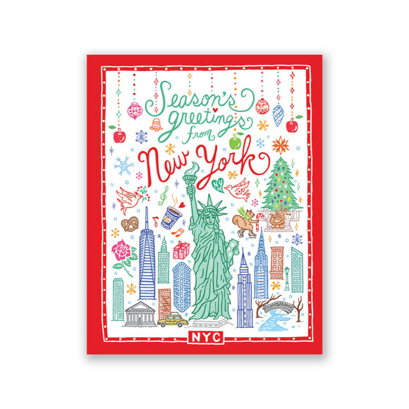 "GMBK Card ""Season's greetings from NYC"" By Bite n' Kiss - Box Set (8) - MeMe Antenna"