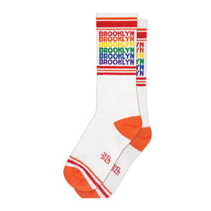 Socks - Brooklyn Rainbow Ribbed Gym Socks - MeMe Antenna