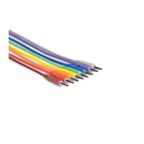 Hosa - Unbalanced Patch Cables 3.5mm TS male to Same (8) - MeMe Antenna