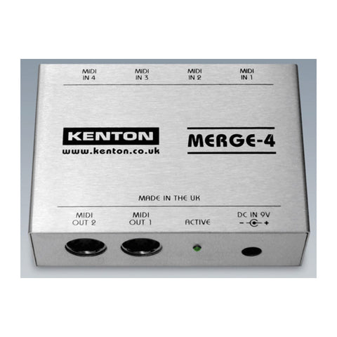 Kenton MERGE-4 - 4 in to 2 out MIDI merge box-MeMe Antenna