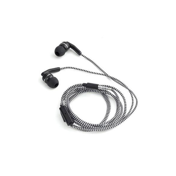 Braided Earbuds Black - MeMe Antenna