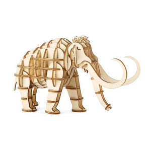 3D Wooden Puzzle Mammoth - MeMe Antenna