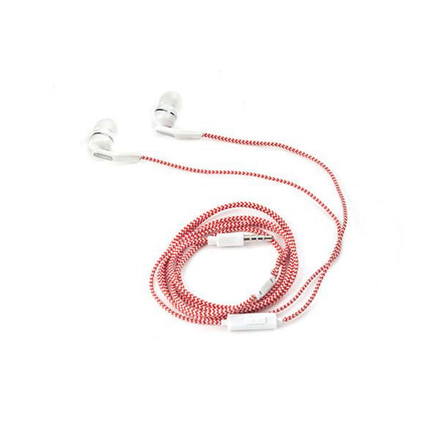 Braided Earbuds Red - MeMe Antenna