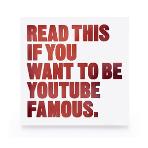 Read This if You Want to Be YouTube Famous - MeMe Antenna