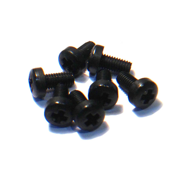 M3 Nylon Screw Black 6mm (set of 50) - MeMe Antenna