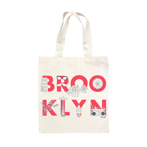 Tote - Brooklyn FONT Grocery Tote - Natural - MeMe Antenna