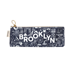 Zipped Pencil Case - Brooklyn - Denim - MeMe Antenna