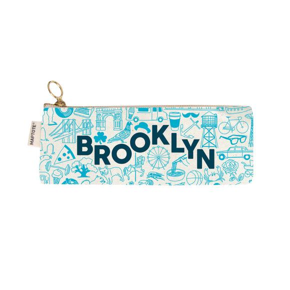 Zipped Pencil Case - Brooklyn - Natural - MeMe Antenna