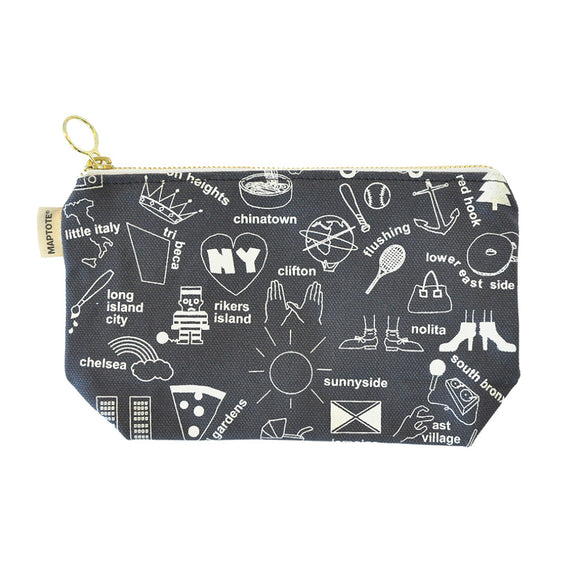 Zipped Pouch - New York City - Gray - MeMe Antenna