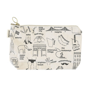 Zipped Pouch - New York City - Natural - MeMe Antenna