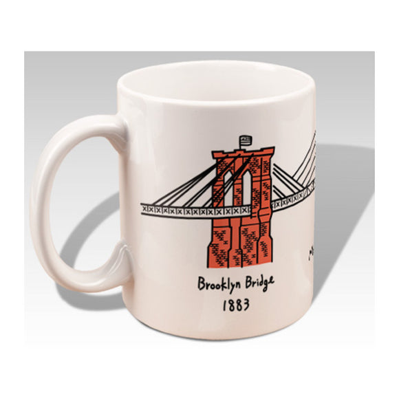 Mug - NYC Three Bridges (White) - MeMe Antenna