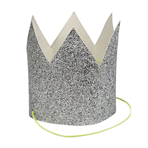 Party Hats - Mini Silver Glittered - MeMe Antenna