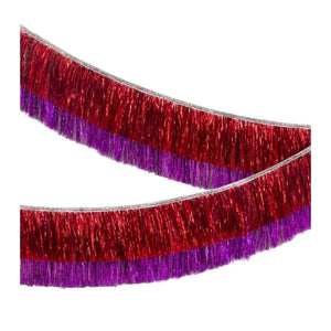 Garland - Red & Pink Tinsel Fringe Garland - MeMe Antenna
