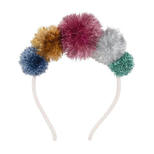 Headband - Tinsel Pompom Headband - MeMe Antenna