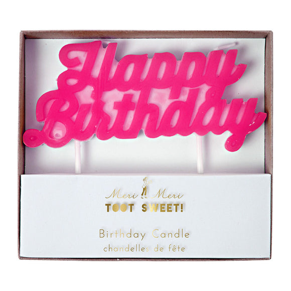 Candle - Happy Birthday Pink Neon - MeMe Antenna