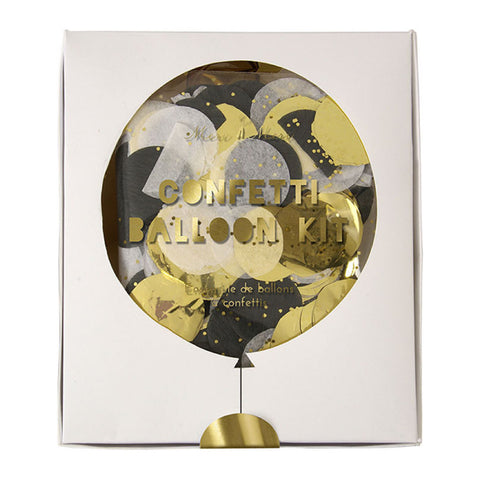 Confetti Balloon Kit - Black & Gold - MeMe Antenna