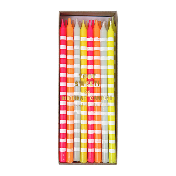 Candle - Party Candles Pastel Stripes - MeMe Antenna