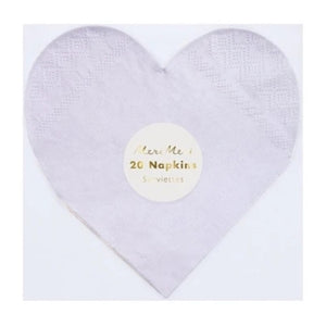 Napkins - Party Palette Heart Small Napkins - MeMe Antenna