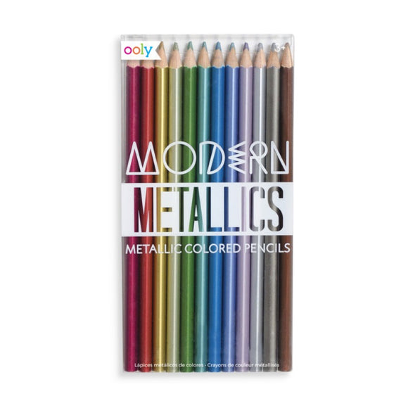 Pencils - Modern Metallics Colored Pencils - MeMe Antenna