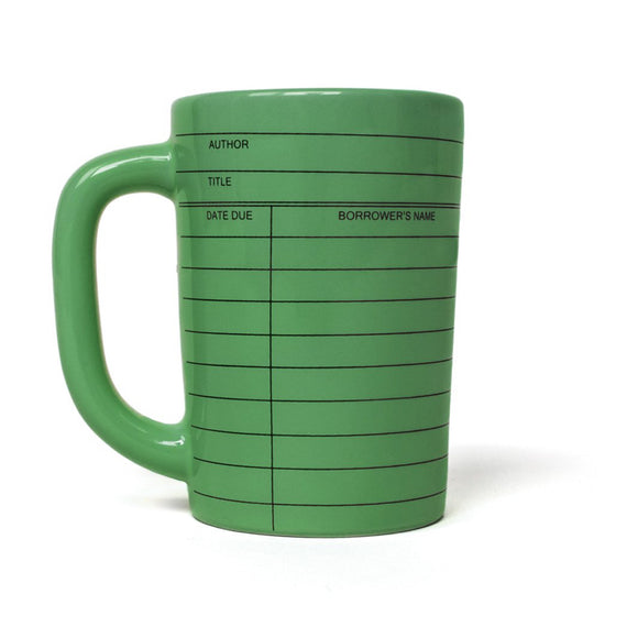 Mug - Out of Print Library Card - Green - MeMe Antenna