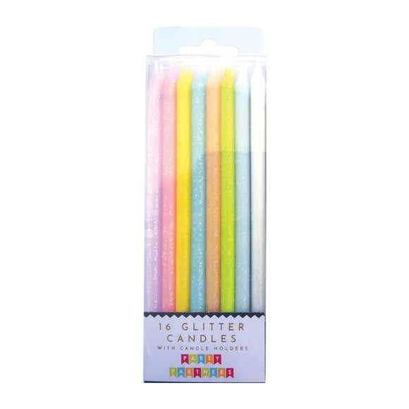 Candle Set - Tall Pastel Rainbow Gradient 16 - MeMe Antenna