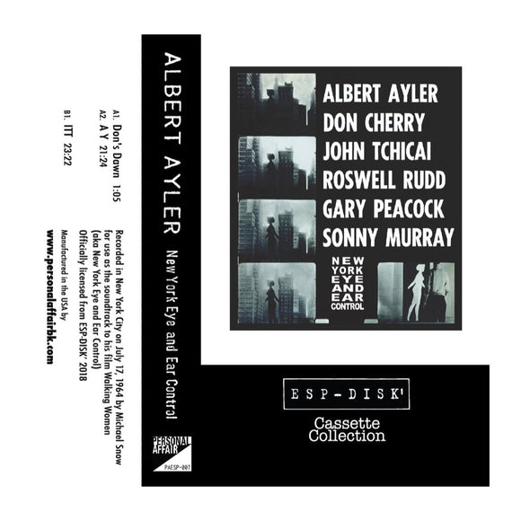 Cassette Collection ESP-Disk' - Albert Ayler: New York Eye & Ear Control - MeMe Antenna
