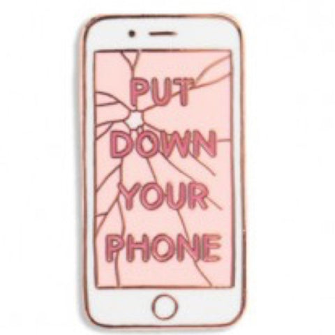 Enamel Pin : The Found - Put Down Your Phone - MeMe Antenna