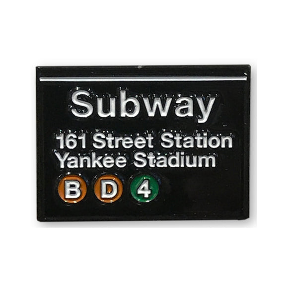Enamel Pin - NYC - Yankee Stadium Subway Sign - MeMe Antenna