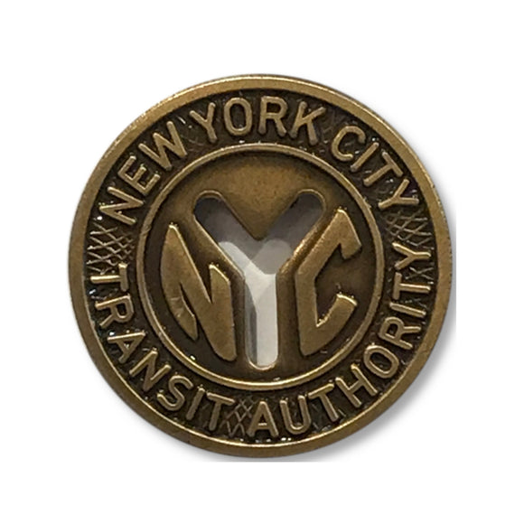 Enamel Pin - NYC - Subway Token - MeMe Antenna
