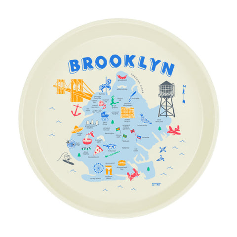 "Round Tray - Brooklyn 12"" - MeMe Antenna"