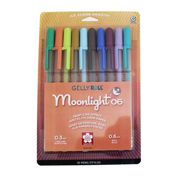 Pen - Gelly Roll Moonlight Pen Sets - 10-Color New Fine Set - MeMe Antenna