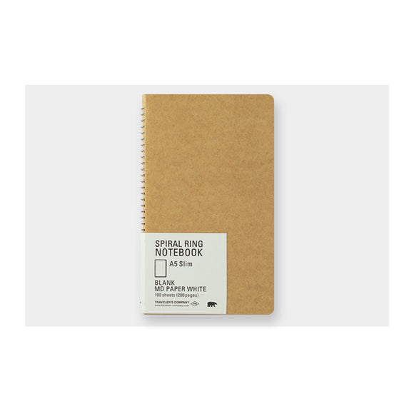 TRC Spiral ring notebook - A5 Slim Blank MD Paper White - MeMe Antenna