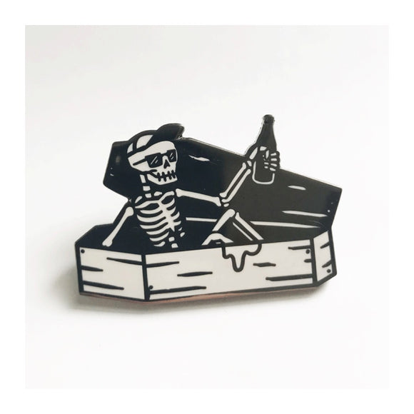 Enamel Pin : Strike Gently - Coffin Guy - MeMe Antenna