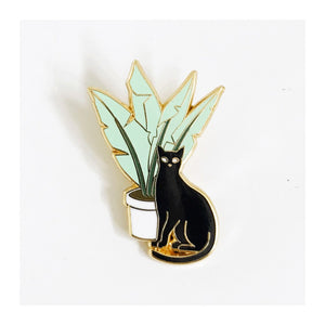 Enamel Pin : Strike Gently - Cat Plant - MeMe Antenna