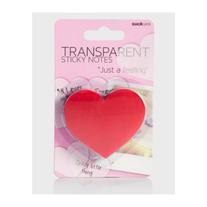 Transparent Sticky Note - Heart - MeMe Antenna