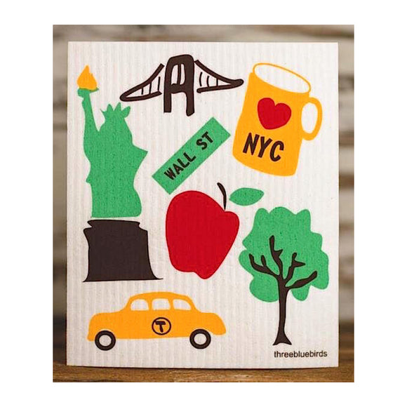 Swedish Dishcloth - LOVE NYC - MeMe Antenna