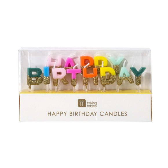 Birthday Brights Rainbow Happy Birthday Candles - MeMe Antenna